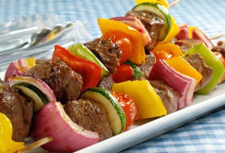 Rainbow Shish Kebabs