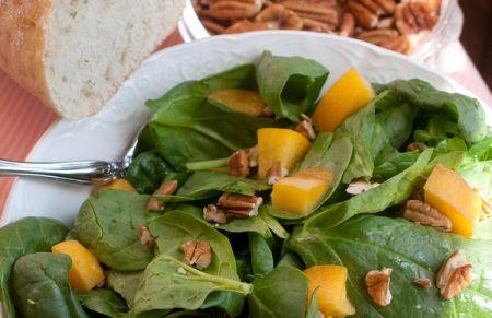 Peach & Spinach Chicken Salad