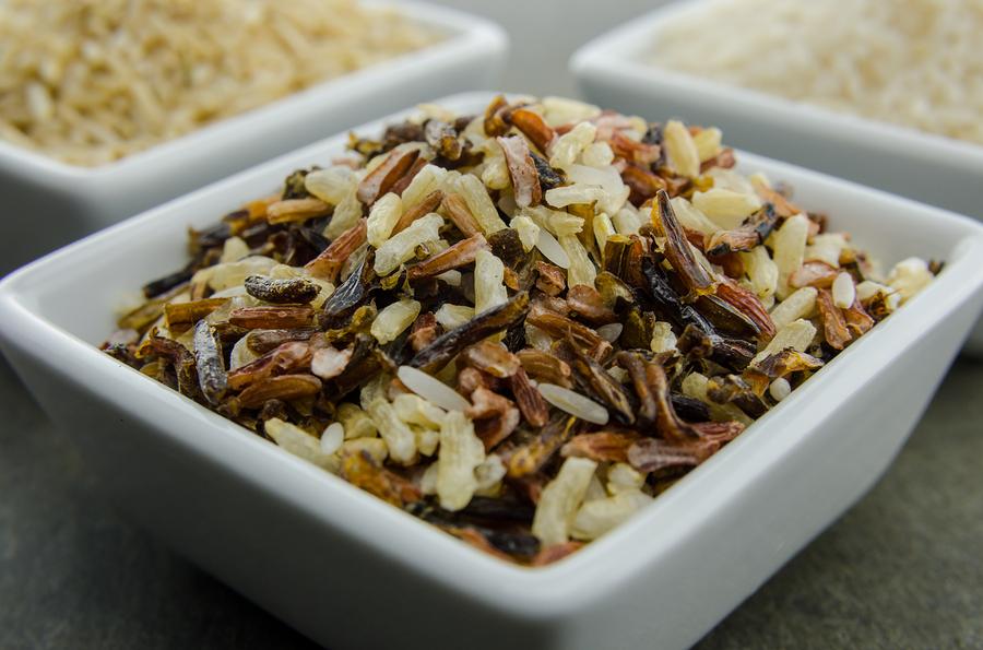 Wild Rice Gluten free in a square white bowl
