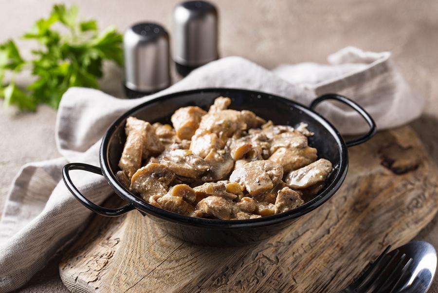 Keto Mushroom garlic chicken