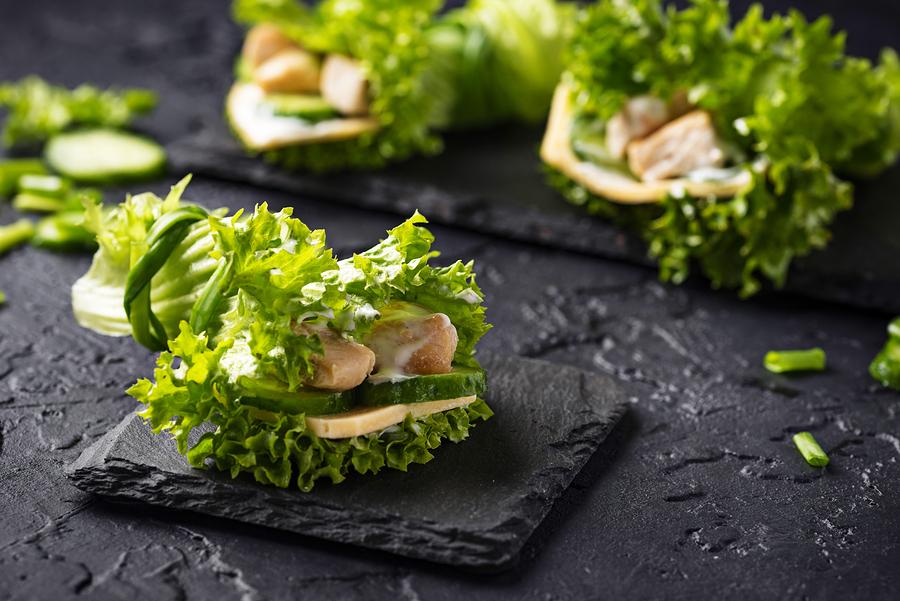 Keto Vegan lettuce wraps